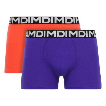 Lot de 2 boxers violet lilas et corail Mix & Fancy-DIM