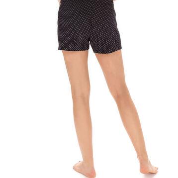 Short de pyjama noir plumetis 100% coton Femme-DIM