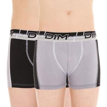 Lot de 2 boxers de sport gris et noir 3D Flex DIM Boy-DIM