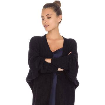 Gilet noir manches longues Femme-DIM