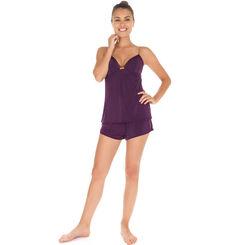 Short de pyjama cassis Femme-DIM