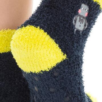 Chaussettes bleu foncé avec broderie robot pour Enfant-DIM