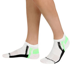 Socquettes techniques de sport blanc et vert fluo Homme-DIM