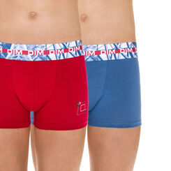 Lot de 2 boxers rouge et bleu French Touch DIM Boy-DIM