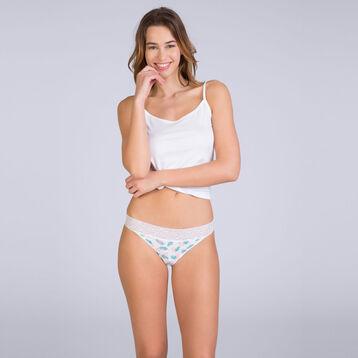 Slip brésilien imprimé feuillage Table Panties-DIM