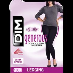 Legging Generous Opaque noir 100D-DIM
