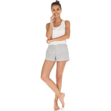 Débardeur de pyjama nacre en coton stretch Femme-DIM
