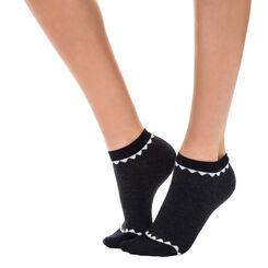 Socquettes invisibles anthracite à motif écaille Femme-DIM