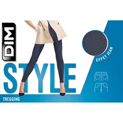 Tregging effet jean gris charbon Madame So DIM-DIM