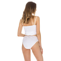 Lot de 2 slips blancs Coton Plus Femme forme mini-DIM
