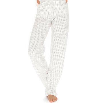 Pantalon de pyjama nacre plumetis 100% coton Femme-DIM