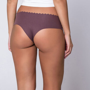 Lot de 2 hipsters rose et brun chocolat en coton Body Touch-DIM