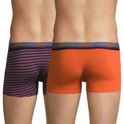 Lot de 2 boxers orange et rayures oranges Original Spirit-DIM