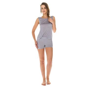Short de pyjama gris en modal Femme-DIM