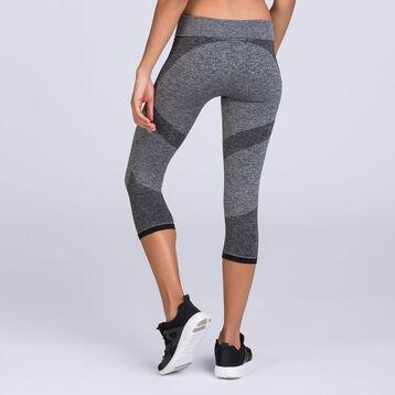 Legging impact léger gris agate chiné DIM Sport-DIM