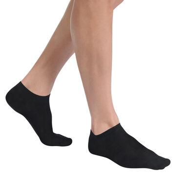 Lot de 2 chaussettes noires invisibles Light Coton Homme-DIM