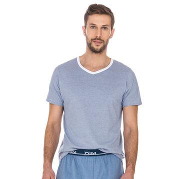 T-shirt de pyjama imprimé rayures 100% coton Homme-DIM