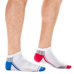 Lot de 2 paires de socquettes sport invisibles X-Temp Homme-DIM