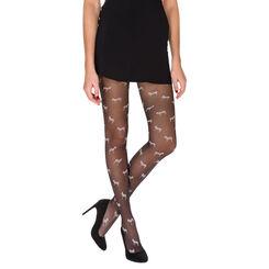Collant noir motif petits zèbres Madame So Fashion 22D-DIM