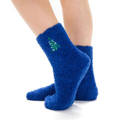 Chaussettes bleues avec broderie sapin de Noël pour Enfant-DIM