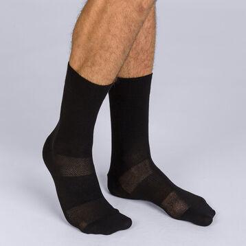 Mi-chaussettes noires sport 3D Flex Homme-DIM