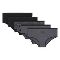 Lot de 5 boxers noirs et imprimés coton stretch Les Pockets-DIM