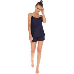 Short de pyjama bleu marine Femme-DIM