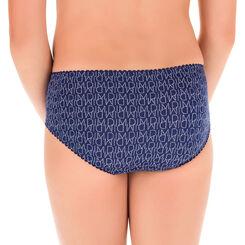 Shorty bleu marine imprimé en microfibre DIM Girl-DIM