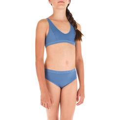Brassière sport bleue en microfibre DIM Girl-DIM