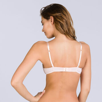 Soutien-gorge push-up sans armatures rose Invisi Fit-DIM