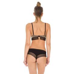 Shorty noir en coton dentelle Sexy Fashion-DIM