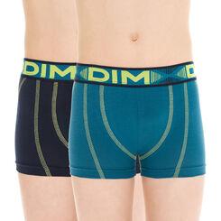 Lot de 2 boxers de sport bleu diesel en coton DIM Boy-DIM