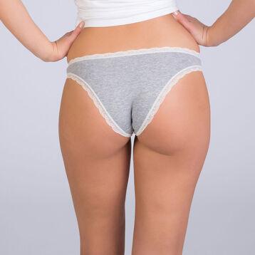 Slip gris anthracite chiné Table Panties-DIM