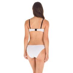 Slip en coton stretch blanc pois noirs EcoDIM Confort-DIM