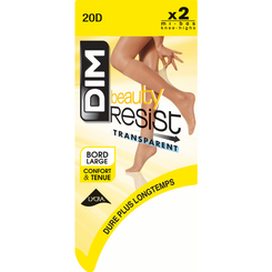 Lot de 2 Mi-Bas cannelle Beauty Resist 20D-DIM