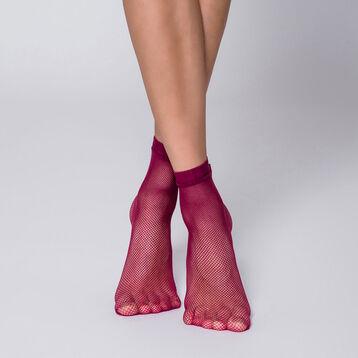 Socquettes résille amarante Style-DIM