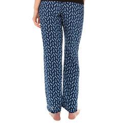 Pantalon de pyjama bleu marine imprimé ananas Femme-DIM