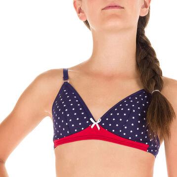 Soutien-gorge triangle  bleu imprimé étoiles DIM Girl-DIM