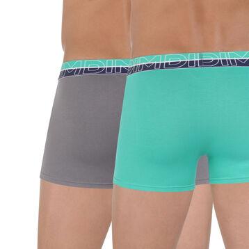 Lot de 2 boxers Urban Way menthe glacée et gris-DIM