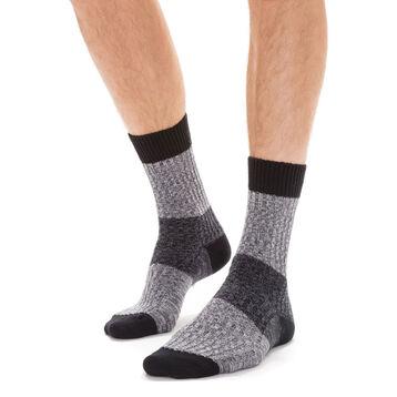 Chaussettes noires côtelées en coton casual Homme-DIM