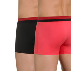 Lot de 2 boxers rose et noir Soft Touch Pop-DIM