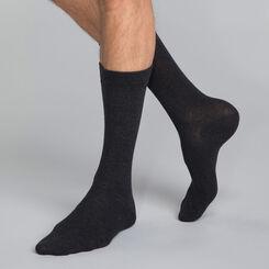 Lot de 3 paires de chaussettes anthracite en coton Homme-DIM