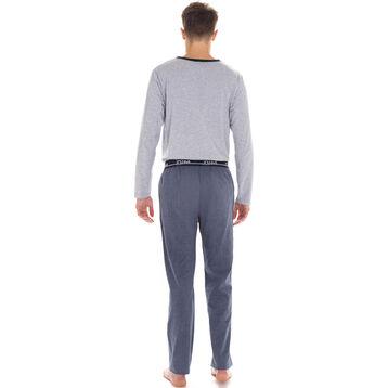 Pantalon de pyjama bleu foncé 100% coton Homme-DIM