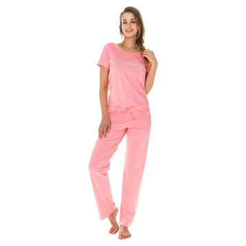 T-shirt de pyjama manches courtes géranium 100% coton Femme-DIM
