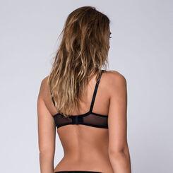 Soutien-gorge noir à armatures Generous Féminine-DIM