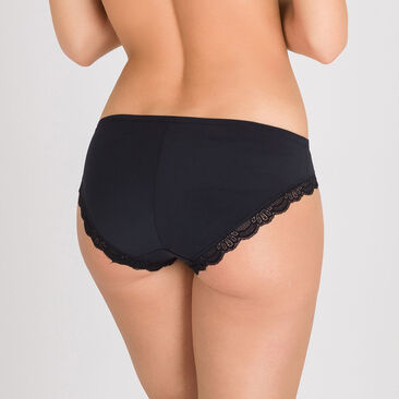 Mini Brief in Black – Invisible Elegance-PLAYTEX