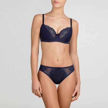 Mini Brief in Dark blue – Romantic Elegance-PLAYTEX