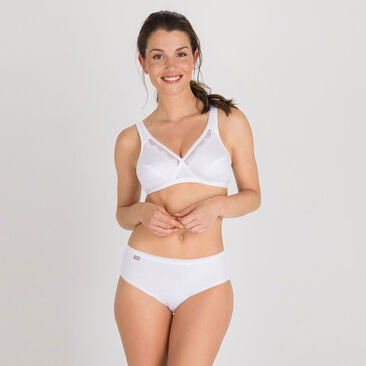 2 Mini briefs in White – Stretch Cotton-PLAYTEX