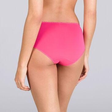 Brilliant pink Midi brief - Flower Elegance-PLAYTEX