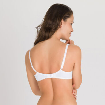 Padded Bra in White – Flower Elegance-PLAYTEX